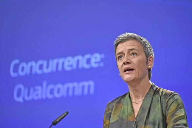 European Commission hits Qualcomm with $1.2 billion antitrust fine