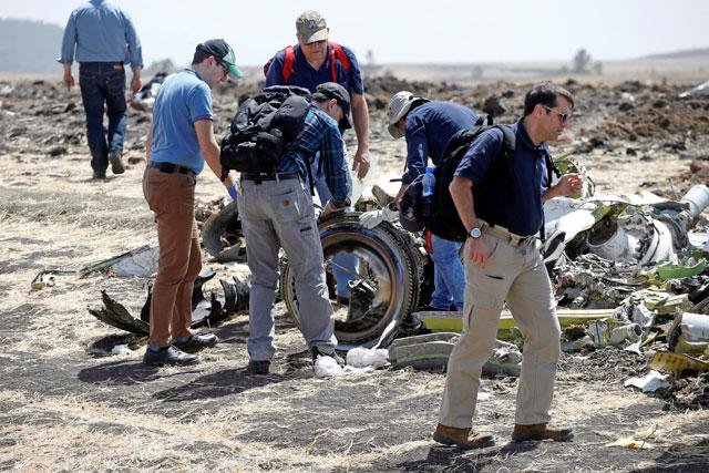 No bodies, only small remains recovered from Ethiopia Airlines crash site -spokesman