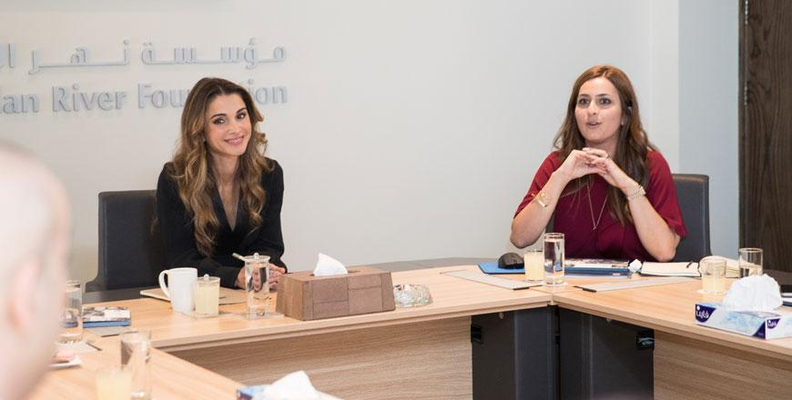 promo code 37fa3 33343 Her Majesty Queen Rania chairs the Jordan River Foundation s board meeting  in Amman on Monday (Photo courtesy of Royal Court)