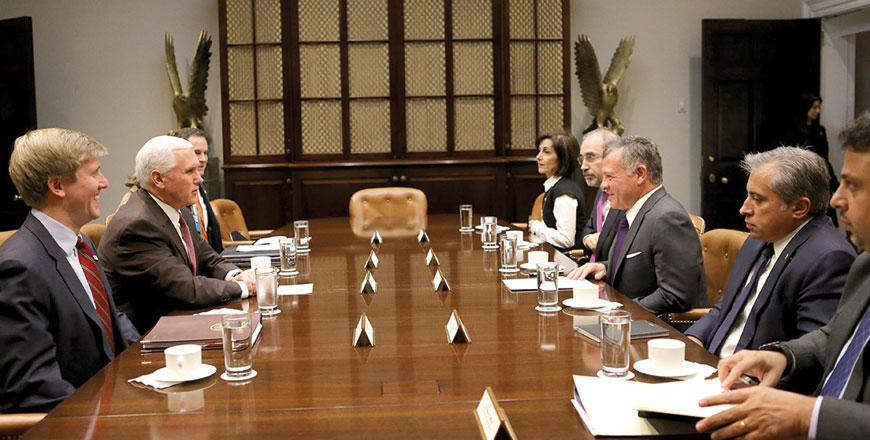 King Meets US Vice President, Senior Administration Officials