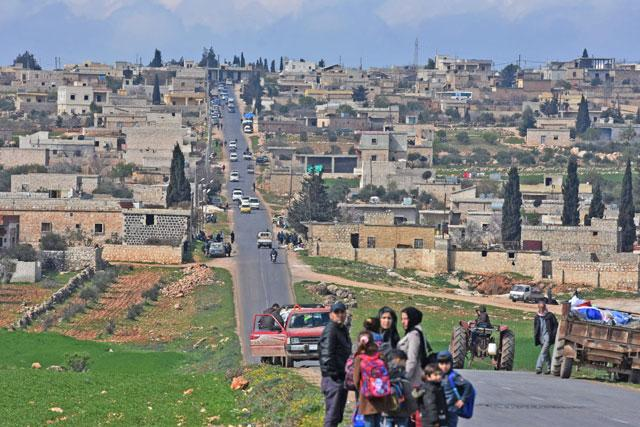 Syrian rebel fighters enter Afrin town, say Kurdish forces have pulled out