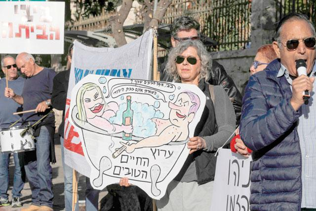 Thousands march against corruption after Netanyahu indictment call