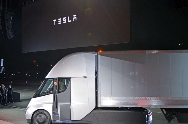 Elon Musk says Tesla Semi trucks are BAMFs