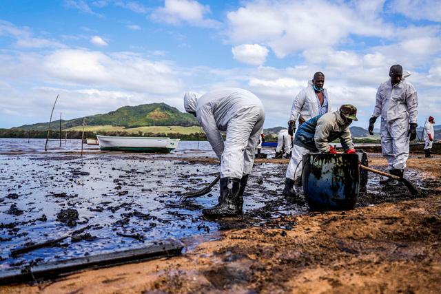 Mauritius oil spill in the Indian Ocean