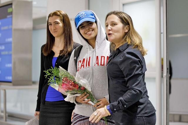 'Brave new Canadian:' Saudi woman fleeing family arrivesrgr