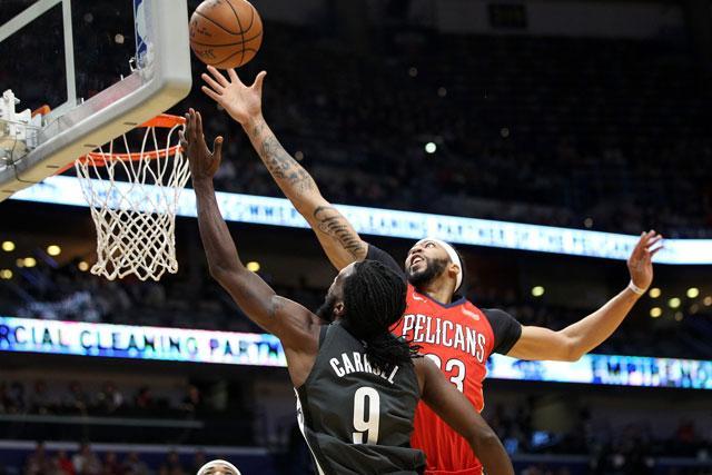 Rondo hands Pelicans win over Nets, 128-113