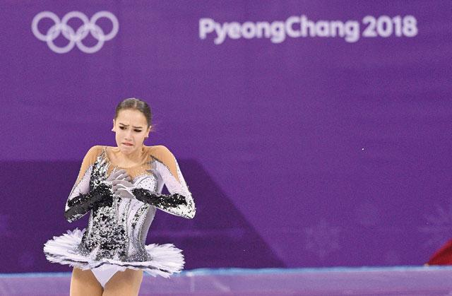 Russia's Zagitova beats Medvedeva's short program world record at Olympics