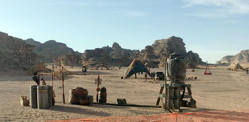 ワディラムでの、スターウォーズ9の撮影風景